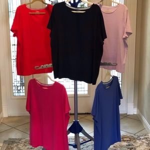 5 for 25!  Five Talbots Plus (2X) Cotton Tees!